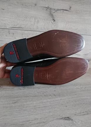 Туфли лоферы пьер карден pierre cardin 41р 26 см кожа5 фото