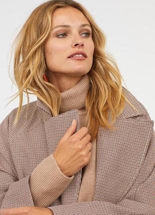 Шикарное пальто на запах / тренч гусиная лапка h&m