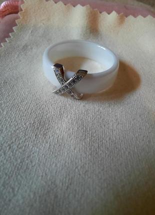 Керамика+нержавеющая сталь кольцо2 фото