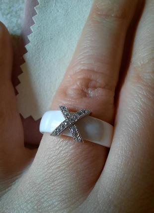Керамика+нержавеющая сталь кольцо3 фото