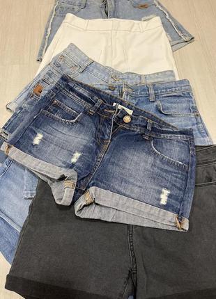 Шорты джинсовые средней посадки