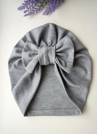 Шапка чалма трикотаж тюрбан шапка на весну
