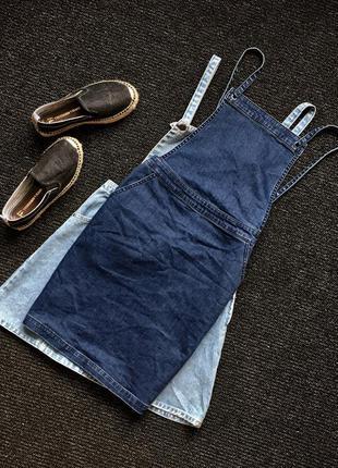 Джинсовое платье комбез комбинезон юбка