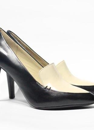 Шикарные кожаные туфли-лодочки geox respira италия