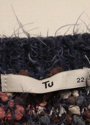 Широкий свитер пряжа травка+барашки3 фото
