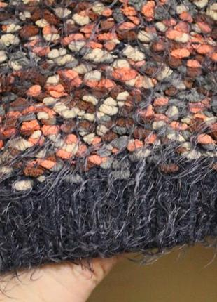 Широкий свитер пряжа травка+барашки5 фото