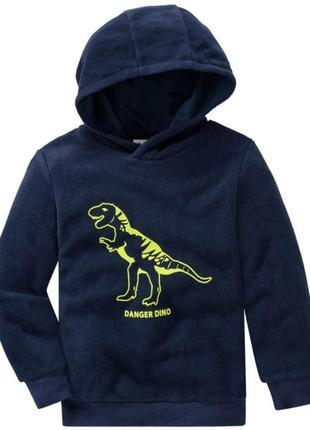 Флисовый пуловер динозавр с капюшоном от ernstings family