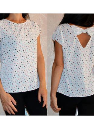 Продам модную блузку promod 10 размер s-m с красивой спинкой
