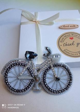 Гламурный велосипед. брошь, украшение