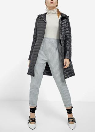 Новая пух-перо длинная облегченная куртка пуховик пальто stradivarius (xs,s,m,l)