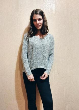 Зимний серый свитер