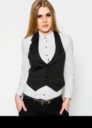 Ефектна красива базова котонова жилетка , корсет new look6 фото