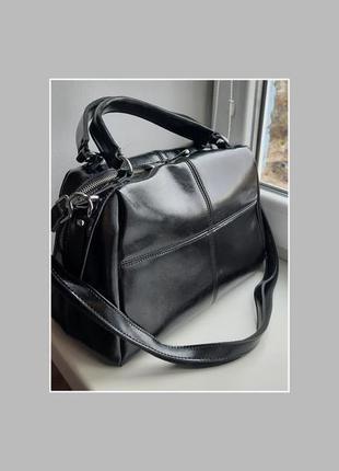Кожаная сумка. лакированный сумка. сумка из кожи
