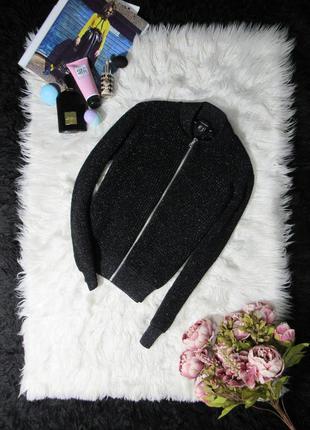 🍂 свитер бомбер с металлизированным эффектом от atmosphere