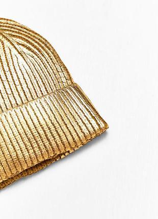 Золотая шапка zara