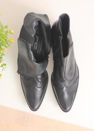 Кожаные ботинки полусапожки ковбойки роперы, бренд paul green