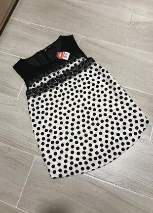 Новая блуза в горох f&f