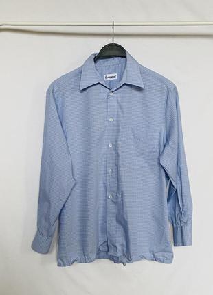 Голубая рубашка в клетку extraglatt