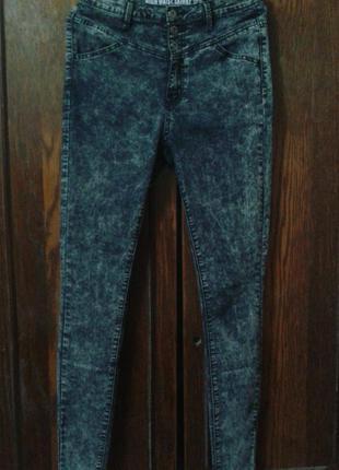 Стильные высокие джинсы скинни варенки denim co,