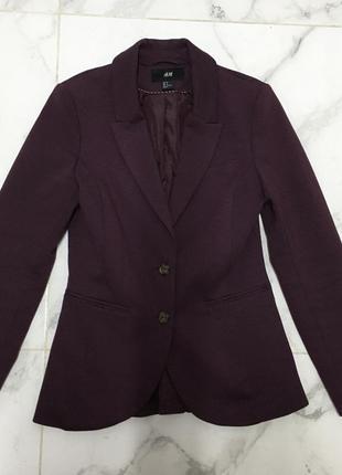 Шикарный пиджак цвета марсала h&m