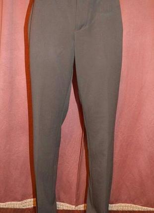 Офисные классические прямые шоколадного цвета брюки mexx