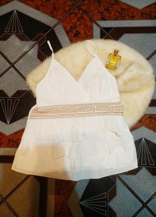 Новая натуральная брендовая майка топ с баской греция, размер l xl
