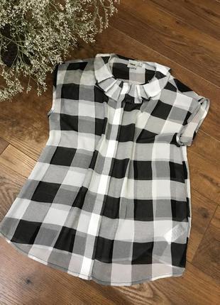 Блузка asos в клетку s блуза рубашка футболка