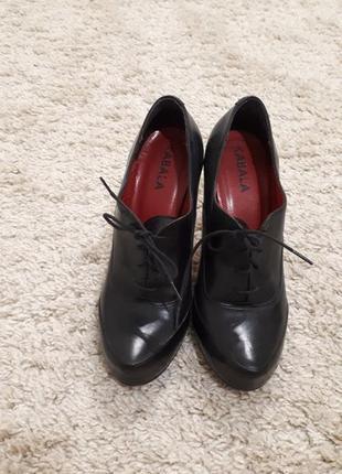 Ботильоны-туфли, натуральная кожа, 36-37 размер, фирмы kabala