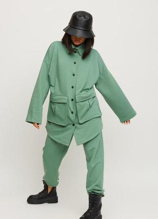 Трикотажний костюм оливковий | 39936