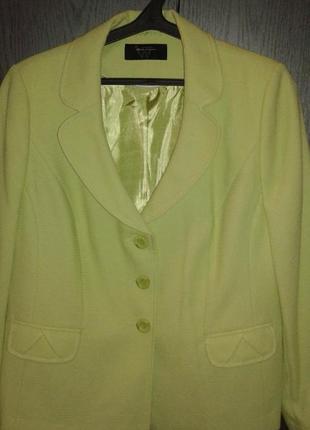 Брендовый пиджак от bhs нежно-салатового цвета, р. 16