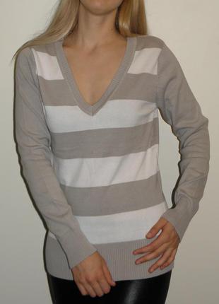 Стильный пуловер свитер кофта джемпер новый с биркой размер м -  l