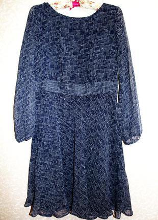 Шикарное женственное шифоновое платье