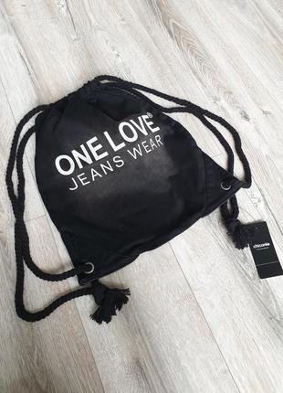 Стильная компактная джинсовая сумка рюкзак chicoree