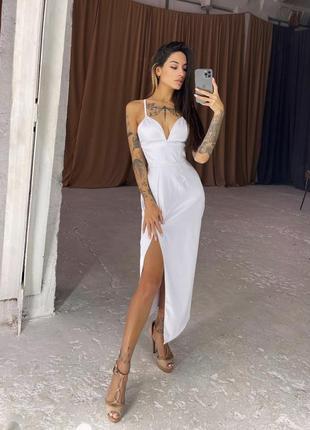 Корсетное платье-футляр с разрезом👗🥥
