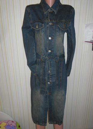 #шикарное джинсовое платье с поясом # tally weijl#джинсовый плащ # оригинал#