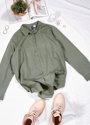 Оливковая рубашка женская, оливкова сорочка жіноча