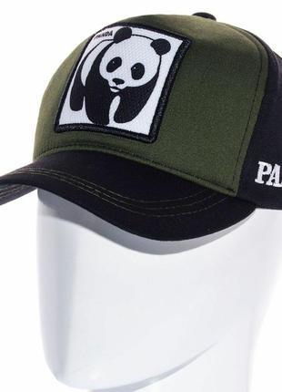 Мультяшная кепка бейсболка с принтом панди мужская женская