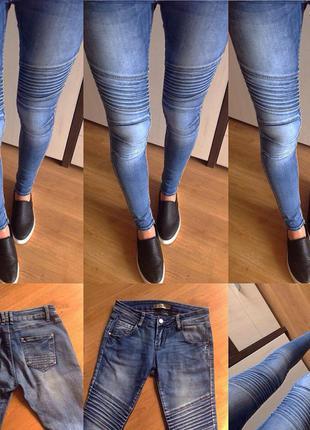 Милые джинсики,плотные,хороший стрейч,красивый цвет,