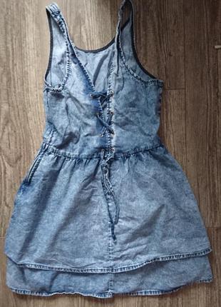Джинсовое платье topshop