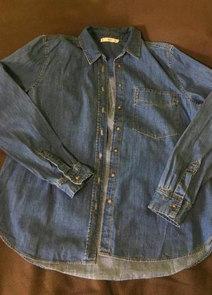 Mango, джиносовка, джиносовая рубашка