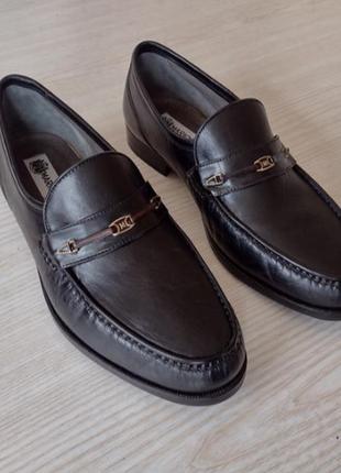 Mario fagni кожаные мокасины оксворды борги челси туфли туфлі 28