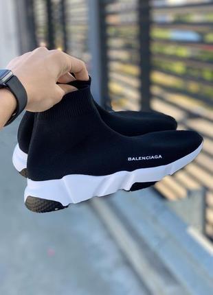 Женские чёрные кеды носки кроссовки носки вязаные стрейчевые