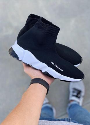 Чёрные женские кроссовки носки вязаные стрейчевые ,кеды