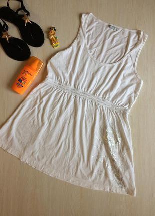 Белый пляжный сарафан, туника с перышком tom tailor