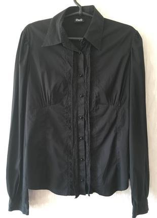 Шикарная черная рубашка dolce & gabbana