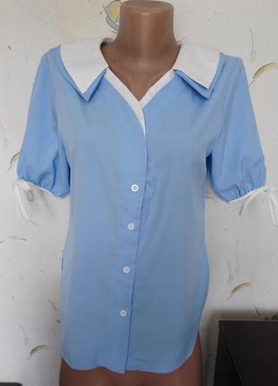 Блузка/рубашка с интересным воротником