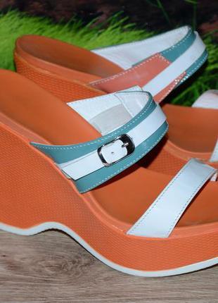 Босоножки на каблуке м9о кожа размер 37