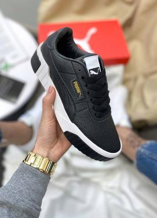 Женские кроссовки puma cali black (черные)