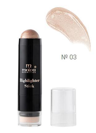 №3 malva highlighter stick хайлайтер-стик m-484