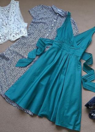Хлопковое платье миди